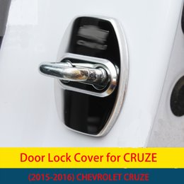 Wholesale Chevrolet Cruze Door - High quality New Stainless Steel Car Door Lock Protection Cover For CHEVROLET Cruze 2015 2016 Car Styling 4Pcs set