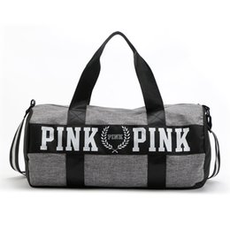 Wholesale Wire Travel - 2016 Canvas Secret Storage Bag Organizer Large Pink Men Women Travel Bag Waterproof Victoria Casual Beach Exercise Luggage Bags