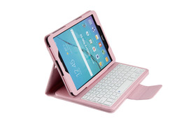 Wholesale Bluetooth Tablet Keyboard Galaxy Tab - 2016 Seller Dropship Wireless Bluetooth Keyboard for Samsung Galaxy Tab S2 Tablet with Leather Case Stand