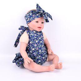 Wholesale Blue Suspender Skirt - 2016 New Summer Baby headband Girls Dresses Princess baby romper Ink blue Suspenders Pure cotton flower Pattern Kids Girl Dress skirt