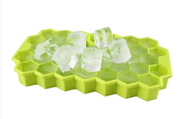 Wholesale Silicone Tray Soap Molds - honeycomb ice tray Cake Mold Flexible Silicone Soap Mold For Handmade Soap Candle Candy bakeware baking moulds kitchen tools ice molds