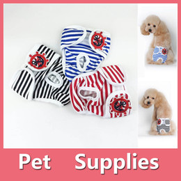 Wholesale T S Shoes - S-2XL Reusable Female Pets Dog Diapers Dog Sanitary Panty Dog Clothes Pet Apparel Pet Supplies 160919