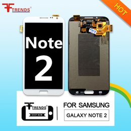 Wholesale Display Galaxy Note Ii - For Samsung Galaxy Note 2 II Original LCD Screen Display Touch Digitizer Assembly N7100 N7105 i317 i605 L900 T889 R950 Free Shipping DHL