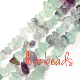 2019 perlas de fluorita al por mayor 5mm-8mm Irregular Natural Colorido Fluorita Piedra Grava Suelta Perlas Strand 80 CM Para Mujer al por mayor (F00369) al por mayor rebajas perlas de fluorita al por mayor