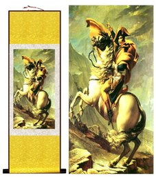 Pittura di seta appesa online-1 Pezzo HD stampato Napoleone Ritratto Immagini a parete Cinese Scorrere Silk Wall Art Poster Immagine Pittura Home Decoration Wall Hanging