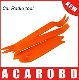Wholesale Car Dash Kits - 4pcs Portable Auto Car Radio Panel Door Clip Panel Trim Dash Audio Removal Installer Pry Kit Repair Tool Plastic Car Repair Tool