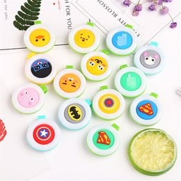 Wholesale Cute Badges - Mosquito Repellent Badge Button Buckle Colorful Cartoon Cute Baby Pregnant Woman Mosquito Repellent bracelet 13 Designs IB328