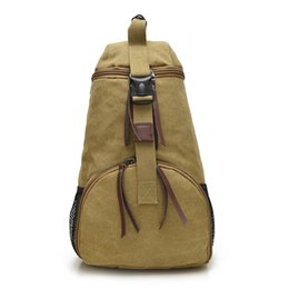 Wholesale Unique Canvas Backpacks - High Quality Fashion Men Bag,New Unique Design Canvas Travel Bag Army Green Professional Go Out Hiking Backpack