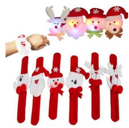Wholesale White Christmas Deers - Christmas Decorations Christmas Patting Circle Christmas Children Gift Santa Claus Snowman Deer New Year Party Toys