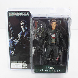 Brinquedos terminadores on-line-NECA O Exterminador do Futuro 2 T-800 Steel Mill Figura Toy Action Figure 18CM para o transporte livre de presente do menino