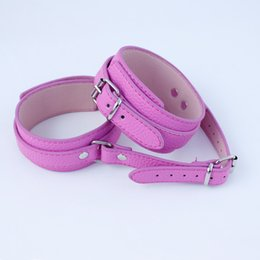 Wholesale Sex Novelty Products - 2016 Purple Adult Arm Rearward Restraints Locking Belt Adult Gay Novelty Leather Harness Sex Toys BDSM Products