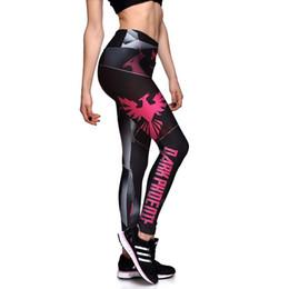Wholesale Sexy Female Sports Pants - Womens Fashion Peace Bird Print High Waist Skinny Sports Pants For Female Plus Size Sexy Slim Elastic Fitness Pants Trousers XXXL