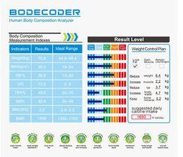 Wholesale Digital Health Analyzer - Bodecoder Digital Fitness Express BIA Body Fat Monitor Fat Analyzer Body Health White Home Using Analysis Report