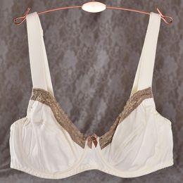 Wholesale 42 Dd Bras - Wholesale-Womens Full Coverage Non Padded Ultri-thin Underwire Lace Bra 34 36 38 42 44 46 B C DD E F
