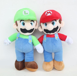 Wholesale Mario Brothers Games - 25cm Super Mario Bros Plush Doll Mario Luigi Soft Stuffed Animal Super Mario Bros. Brothers Plush Doll Stuffed toy KKA3349