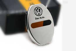 Wholesale Volkswagen Car Stickers - 4pcs set Volkswagen Stainless Steel Car Door Lock Covers Car Lock Protector Sticker For VW Tiguan Lavida Santana Golf Polo PASSAT