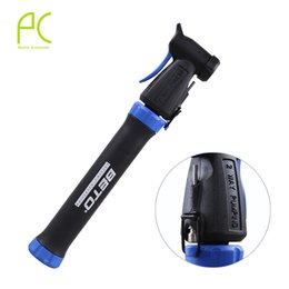 Wholesale Gas Bicycles Wholesale - Wholesale-Mini Portable Double Stroke Pump Mountain Bike Cycling Bicycle Pumps Bike Parts French and American Gas Mouth Accessories