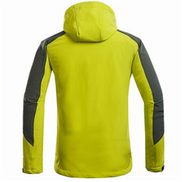 Wholesale Soft Shell Waterproof - Fall-2016 Free shipping New men's windproof waterproof breathable quick-drying jackets stretch soft shell comfortable