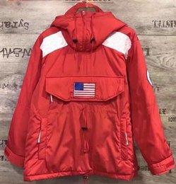 Wholesale Fleece Gore Tex - New Cooperation jacket SS17 Gore-Tex Pullover fleece Hoodie Pullover Steep Tech Hooded Jackets blue black red white red 5 colors