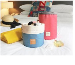 Wholesale Best Travel Packages - Best barrel drawstrin bag round drawstring cosmetic wash orgnizer package multi - functional bucket travel bags large - capacity cosmetic