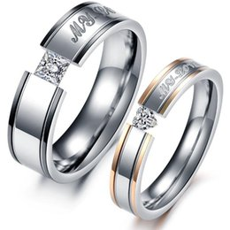 Wholesale Circle Paving - JEWELRY 316L Stainless Steel Rings My Love Circle Shiny Crystal Wedding Rings Fashion Women Men Jewelry 351