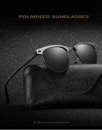 Wholesale New Design Frame - 2017 New Design Most Popular Semi Rimless Polarized Sunglasses Women Men Retro Brand Sunglasses With Fashion Case