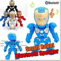 Wholesale Mini Kids Mobile Phone - Bluetooth Robot Speaker C89 Kid Toys Gift Bluetooth 3.0 Wireless Speaker for Mobile Phone Also Support handfree TF AUX