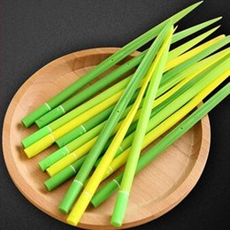 Wholesale Grass Art - 12pcs pack Grass Shape Gel Pens School Student Kid Gift Pen Stationery Fashion Christmas Gift Home Party Decoration Pen Material Escolar