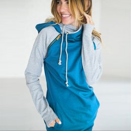 Wholesale Polyester Tracksuits Wholesale - Oversize Women Sweatshirt Pullovers 2017 Fashion Zipper Jumper Hoodies Harajuku Hooded Tracksuit Coat Casaco Feminino 3XL