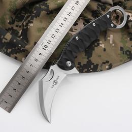 Wholesale Karambit Training Knives - K8043 420J2 Steel Blade Best Karambit Claw Knife Folding Training Hunting Knife Outdoor Survival Knife Free Shipping Xmas Gift for Man 1pcs