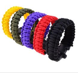 Bracelets paracord en Ligne-Paracord Parachute cordon cordon d'urgence en plein air bracelet de survie d'urgence sauvetage paracord bracelet adulte sport sifflet Bracelet