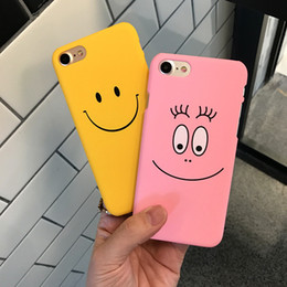Wholesale Iphone5 Cute - Funny Smile Faces For iphone 7 7plus Case For iphone5 5s 6 6S 6plus Back Cover Cute Cartoon Smile Couples Phone Cases Capa Coque