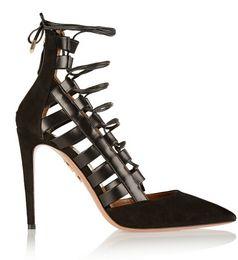 Wholesale Stripes Stilettos High Heels - 2016 Wholesale-Free shipping! star aquazzura vintage pointed toe genuine leather High-heeled stripe decoration single bandage women's sandal