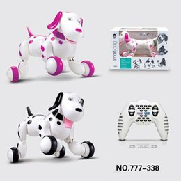 Wholesale Electronic Robot Dogs - New arrival wireless remote control intelligent robot dog RC smart dancing walking dog Electronic dog free shipping