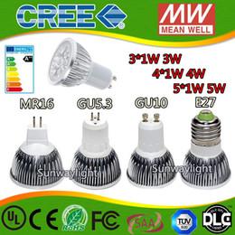 Wholesale E27 3w - High power CREE Led Lamp 3W 4W 5W Dimmable GU10 MR16 E27 E14 GU5.3 B22 Led Light Spotlight led bulb downlight lamps