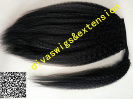 Wholesale Drawstring Ponytails Extension - Wraps black hairstyles ponytail kinky straight coarse yaki drawstring ponytail hairpiece brazilian hair clips ins hair extension 120g