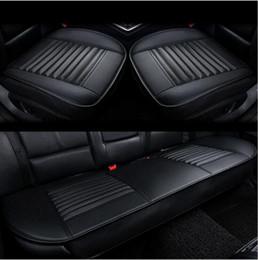 Wholesale Yaris Cover Seat - 3Pcs Set Four seasons general car auto seat cushions Leather car seat covers ToyotaCorolla avensis c-hr rav4 auris yaris Camry Prius