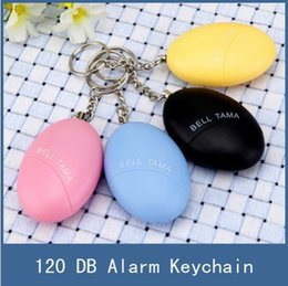 Wholesale Keychain Lost Alarm - Female Self Defense Anti-Lost Security Keychain Alarm For Protecting Women Children Kids Elderly Personal portable Keyring Guard Safety