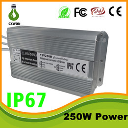 Wholesale Ac Dc Led Driver - Outdoor IP7 Power Supply Transformer 110-240V AC DC 12V 5A 10A 20A Led light Lamp driver adapter