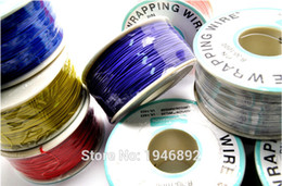 Wholesale Pcb Electrical - Wholesale-High quality electrical Wire Wrapping Wire Wrap 10 Colors Single strand copper AWG30 Cable OK Wire & PCB Wire
