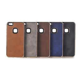 Wholesale Gold Coated Roses - For Samsung S8 Plus Case Crazy Horse Texture Leather Coated TPU+PC Electroplating Edges Cover for iphone 8 7 6 plus Funda Coque