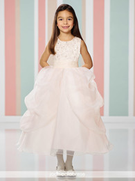 Wholesale Split Front Overlay - Tea-length A-line dress split front organza overlay pick up skirt sequin and hand-beaded lace overlay bodice with ruched tulle waistband