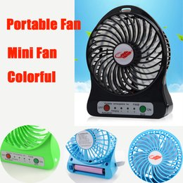 Wholesale Usb Flashlights - Portable Fan mini usb rechargeable fan with 2600mAh Power Bank and Flashlight for Traveling Fishing Camping Backpacking BBQ DHL OTH279