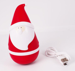 Wholesale Hi Box - New Hot Sell Portable mini wireless bluetooth Santa Claus Christmas Father tumbler roly-poly speaker Christmas Speaker for christmas