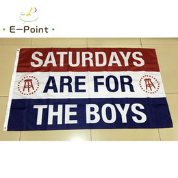 Wholesale Decoration Gifts - Saturdays are for the Boys & Girls 3*5ft (90cm*150cm) Polyester flag Banner decoration flying home & garden flag Festive gifts