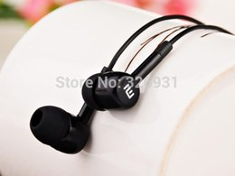 Wholesale Xiaomi M1 Shipping - Wholesale-High Quality In-ear Earphone For XiaoMI M2 M1 1S Samsung iPhone With Remote And MIC 50pcs free shipping