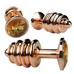 Wholesale Gold Anal - Gold Silver Rose Gold Small Size Metal Anal Toys Smooth Touch Butt Plug Stainless Steel Anal Plug Sex Toys For Male