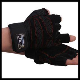 Wholesale Genuine Leather Gloves Wholesale - Wholesale-CL003 genuine leather Weight lifting hand gloves fitness sport gloves luvas fitness