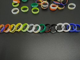 Wholesale Silicone E Cigarette - E Cigarette Accessories Silicone Rubber Vape Band Beauty Ring Bands for Mods Decorative and Protection Silicon Vape Rings Mod Resistance