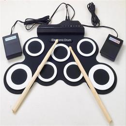 Kit de bateria dobrável portátil com enrolador de mão com cilindro elétrico USB de